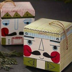 Set of (4) Crate & Barrel Nutcracker Ornament Box